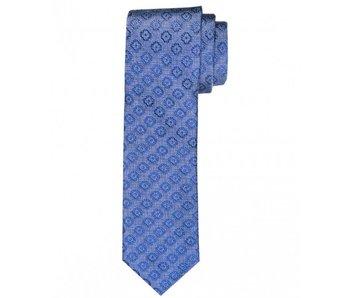 Profuomo Blue woven silk tie