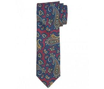 Profuomo Bordeaux twill printed silk tie