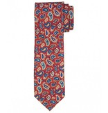 Profuomo Red twill printed silk tie