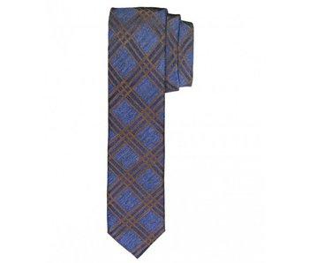 Profuomo Navy woven skinny silk-cotton tie