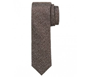 Profuomo Camel structured skinny silk tie