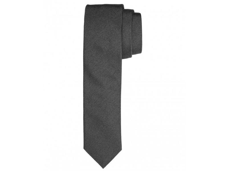 Profuomo Grey melange skinny silk tie