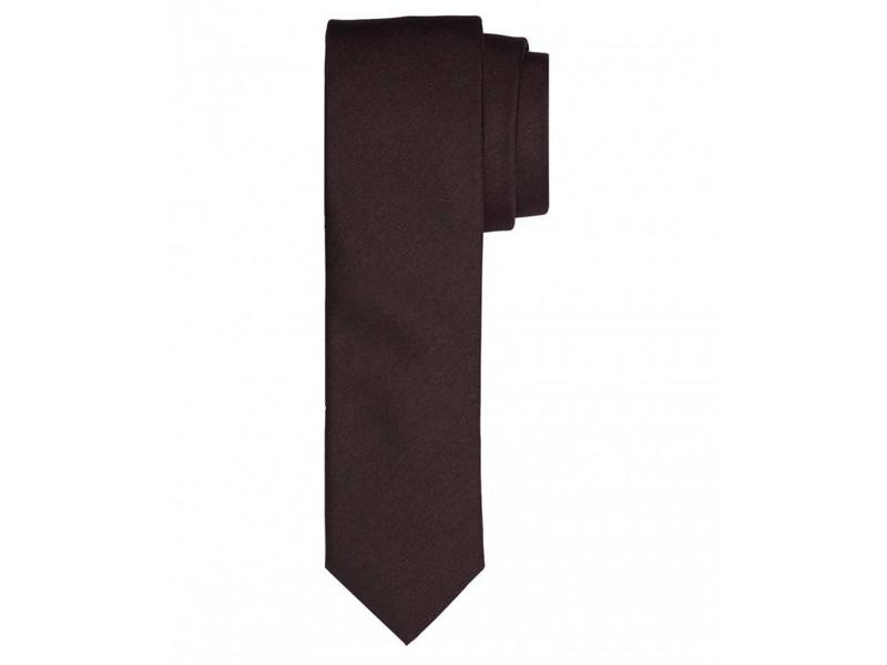 Profuomo Burgundy melange skinny silk tie