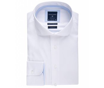 Profuomo Shirt White non iron slim fit
