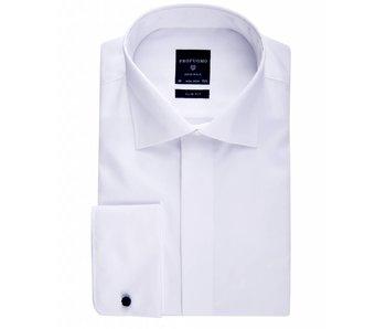 Profuomo Shirt White smoking twill cotton