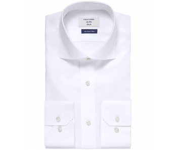 Profuomo Sky blue white smart shirt slim fit non iron