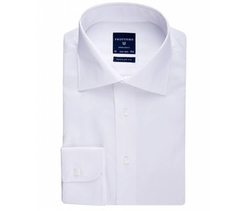 Profuomo Originale white widespread collar regular fit