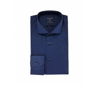 Profuomo Originale Navy shirt cutaway collar slim fit