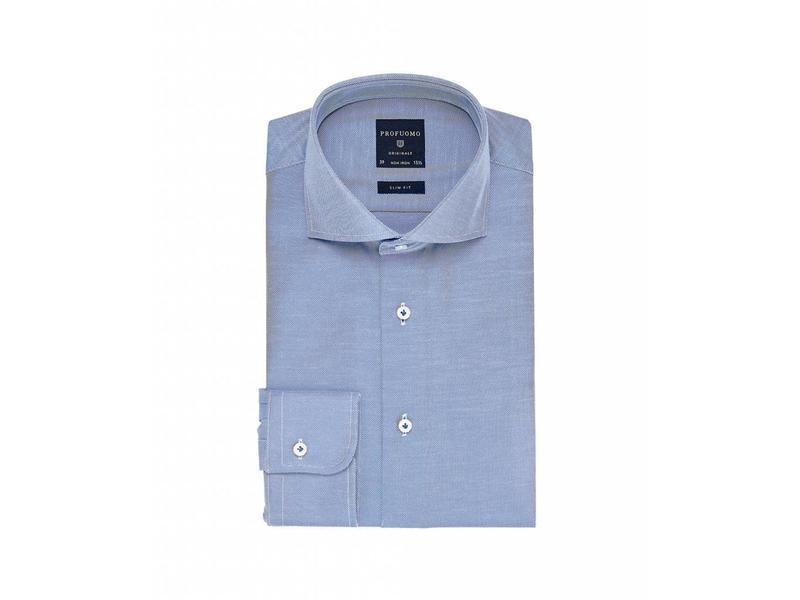 Profuomo Originale mid blue cutaway collar slim fit