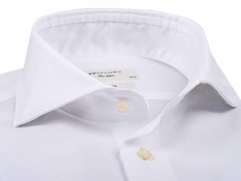 Profuomo Sky blue Imperial Oxford shirt cutaway collar slim fit