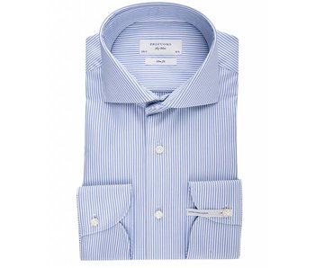 Profuomo Sky blue blue stripe extra long sleeve  slim fit