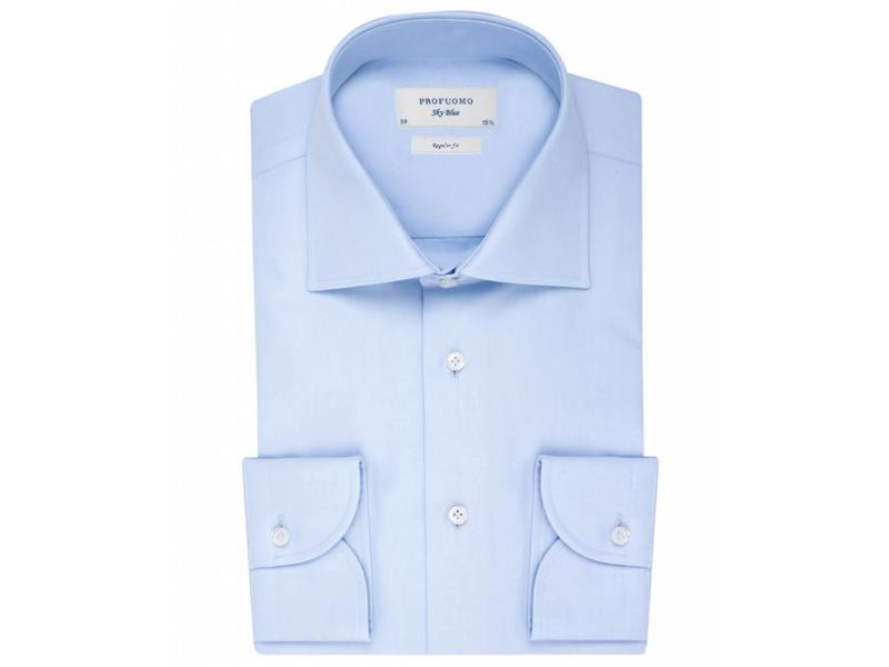 Profuomo Sky blue regular fit blue shirt widespread collar