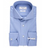 Profuomo Sky blue pied de poule extra long sleeve blue shirt
