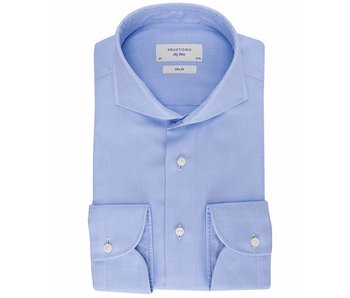 Profuomo Sky blue imperial oxford blue shirt cutaway collar