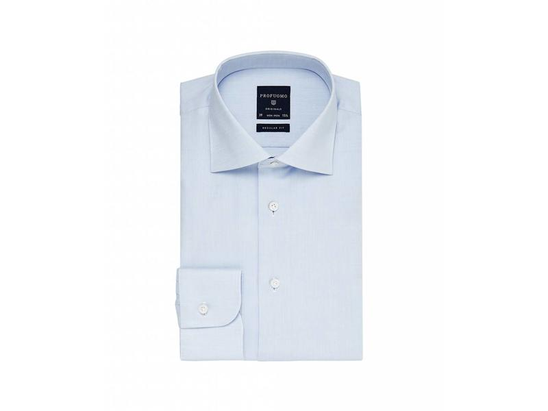 Profuomo Originale blue regular fit widespread collar
