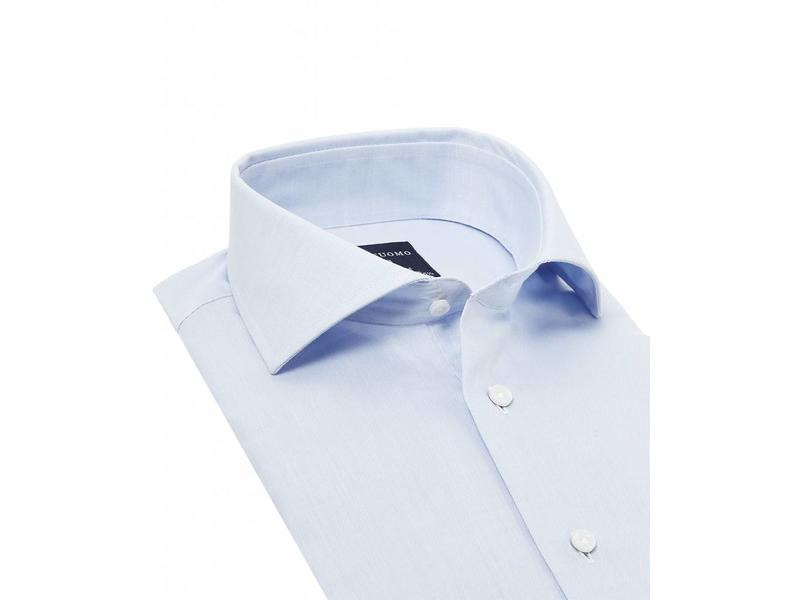 Profuomo Originale blue slim fit cutaway collar