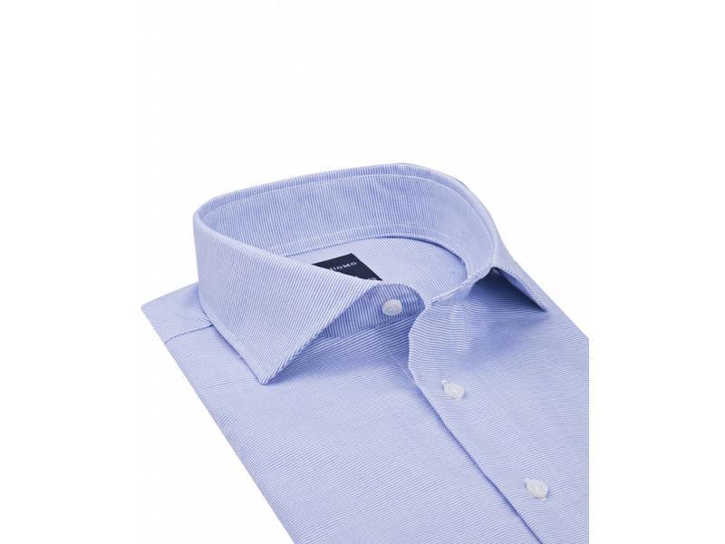 Profuomo Originale blue basket weave cutaway collar