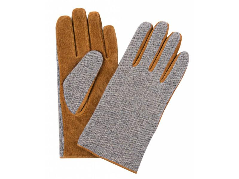 Profuomo Glove Grey knitted suede