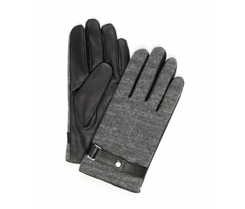 Profuomo Glove Grey knitted and leather