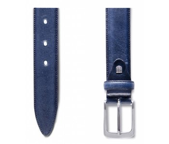 Profuomo Belt Lthr Side Polish Navy
