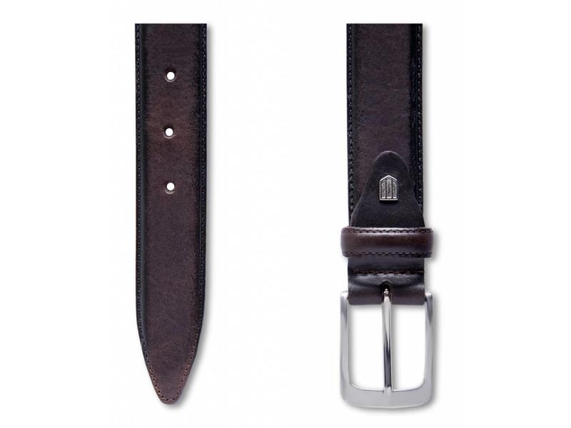 Profuomo Belt Lthr Side Polish Brown