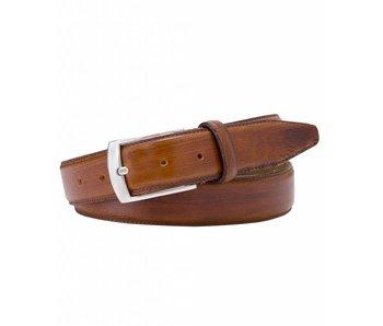 Profuomo Belt Leather Cognac Handpolish