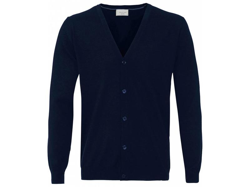 Profuomo Cardigan Button Navy