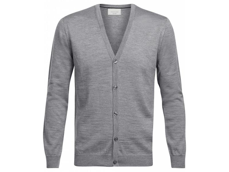 Profuomo Cardigan Button Grigio