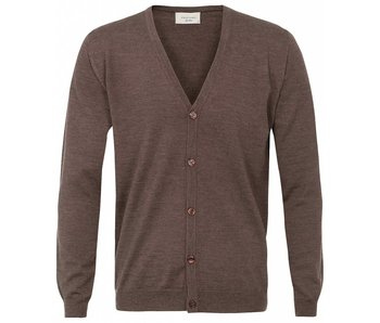 Profuomo Cardigan Button Castagna