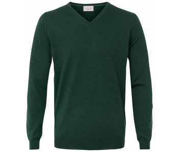 Profuomo Pullover V-Neck Verde