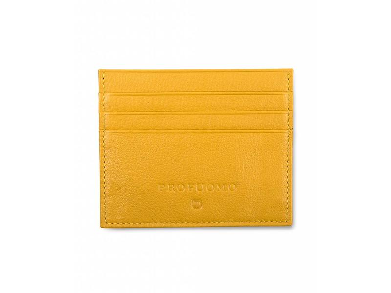 Profuomo Wallet Yellow leather card