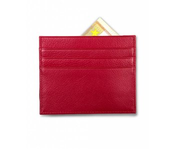 Profuomo Wallet Red leather card