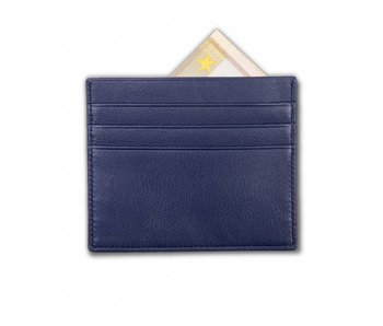 Profuomo Wallet Navy leather card
