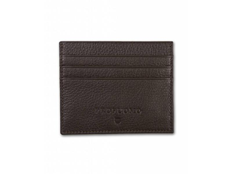 Profuomo Wallet Brown leather card