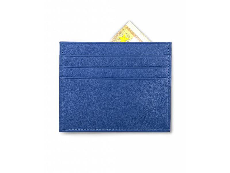 Profuomo Wallet Blue leather card