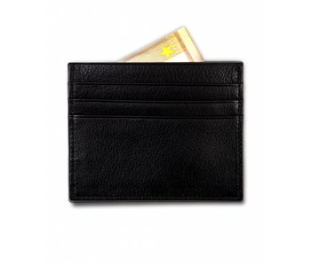 Profuomo Wallet Black leather card