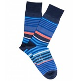 Profuomo Red stripe mecerized cotton socks