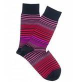 Profuomo Red stripe mecerized cotton socks
