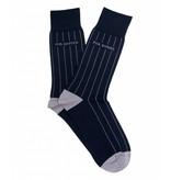 Profuomo Navy mercerized socks
