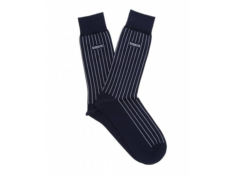 Profuomo Navy mercerized socks