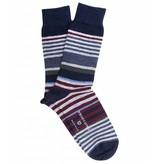 Profuomo Navy cotton-wool socks