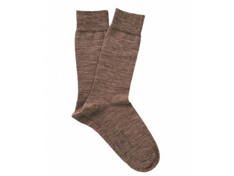 Profuomo Camel solid cotton-wool socks