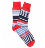 Profuomo Blue cotton-wool socks