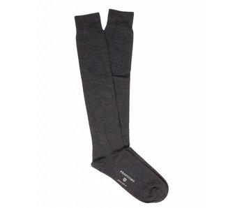 Profuomo Anthra wool-silk knee socks