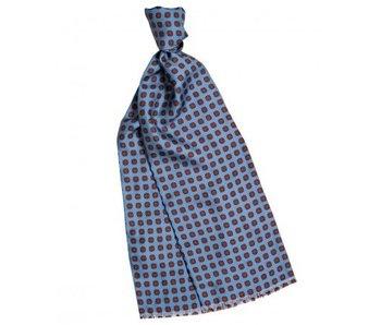 Profuomo Scarf Silk Twill Print Blue