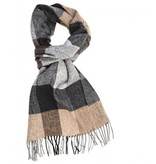 Profuomo Scarf Brown Check In Box