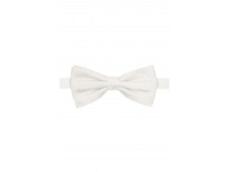 Profuomo Bowtie off-white silk wedding