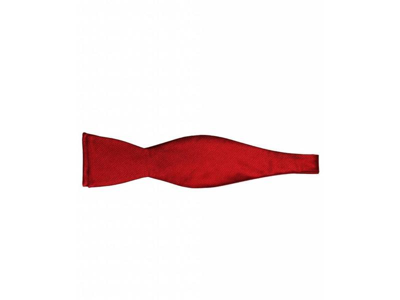 Michaelis Bowtie red solid silk self bowtie.