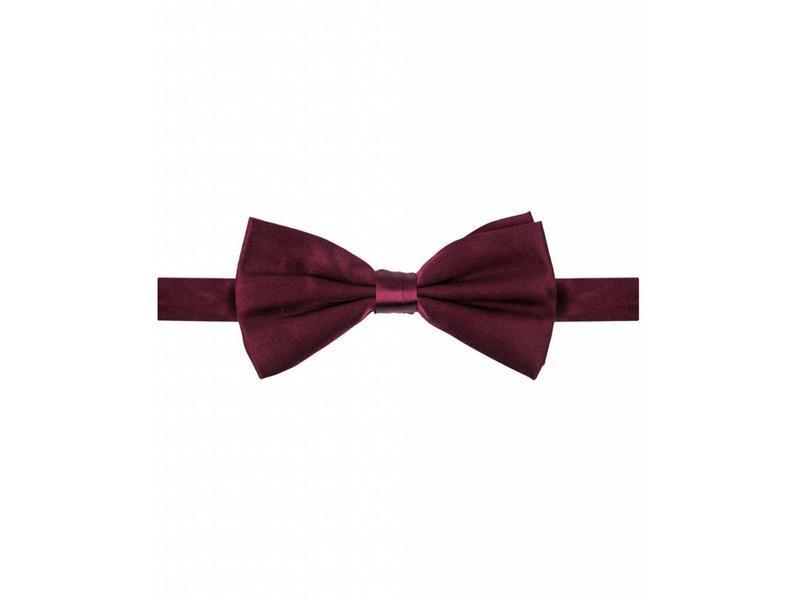 Michaelis Bowtie burgundy satin silk.