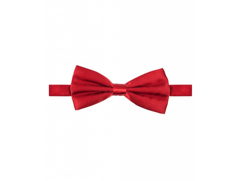 Michaelis Bowtie red satin silk.